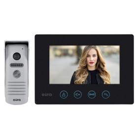 WIDEODOMOFON ''EURA'' VDP-40A3 ''FENIKS'' CZARNY ekran 7'', monitor z WiFi, otwieranie 2 wejść, aplikacja Eura Connect
