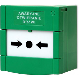 Zielony przycisk ewakuacyjny resetowalny Getfort GF-PE01