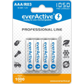 "Akumulatorki AAA / R03 everActive Ni-MH 1050 mAh ready to use ""Professional line"" (box 4 szt)"