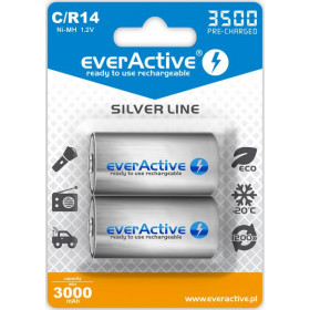 "Akumulatorki C / R14 everActive Ni-MH Ni-MH 3500 mAh ready to use ""Silver line"" (box 2 szt)"