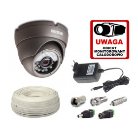 Zestaw startowy AHD, 1x Kamera HD/IR20 + akcesoria