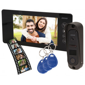 "Wideodomofon OR-VID-JS-1053/B Pamięć + Breloki ARCUS RFID 7"" ORNO Czarny"