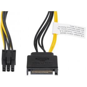 KABEL ZASILAJĄCY WEWNĘTRZNY SATA(M) -  PCI EXPRESS(M) 6 PIN 20CM