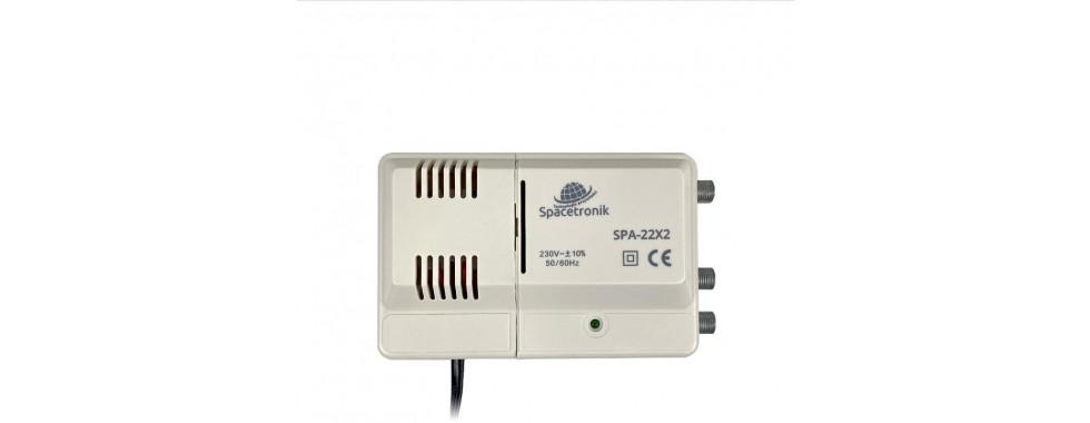 Wzmacniacz szerokopasmowy Spacetronik SPA-22X2 VHF/UHF 24dB