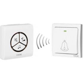 Dzwonek bezprzewodowy VIRONE DB-3 bezbateryjny przycisk,learning system,80m