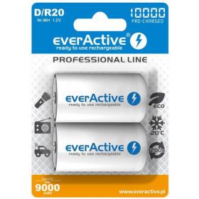 "Akumulatorki D / R20 everActive Ni-MH Ni-MH 10000 mAh ready to use ""Professional line"" (box 2 szt)"