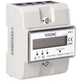Wskaźnik zużycia energii 3 fazowy Virone EM-3