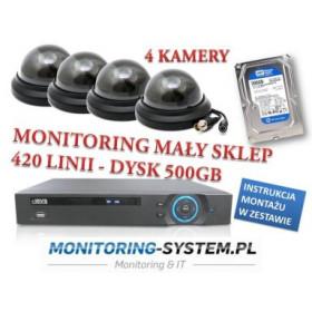 Monitoring Sklepu 4 kamery...