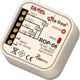 Radiowy odbiornik dopuszkowy 3-kan. EXTA FREE ROP-06