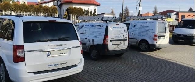 Flota samochodów firmy Monitoring IT